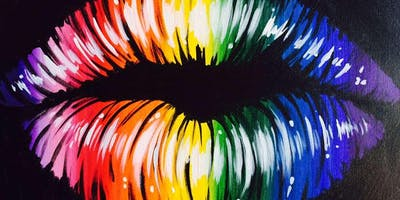 Blacklight Paint Party! This Kiss!