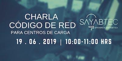 CHARLA CÓDIGO DE RED PARA CENTROS DE CARGA