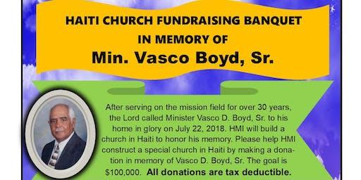 Vasco Boyd - Haiti Church Fundraising Banquet