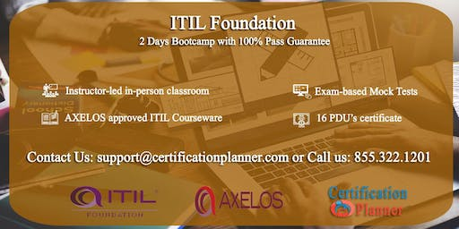 ITIL Foundation 2 Days Classroom in Spokane