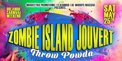 ZOMBIE ISLAND JOUVERT THROW POWDA EDITION