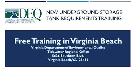 Underground Storage Tank Regulation Training - Virginia Beach tickets