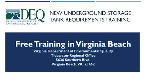 Underground Storage Tank Regulation Training - Virginia Beach