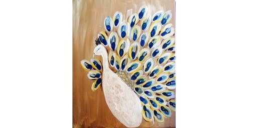 Elsa's On The Border - Pretty Peacock - Paint Party