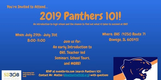 Oswego High School Panthers 101