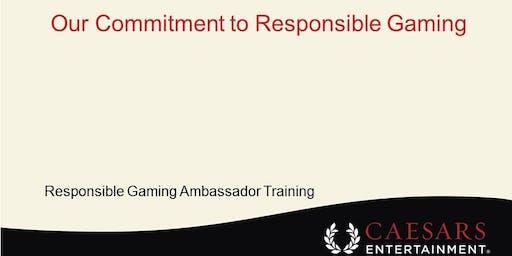 Responsible Gaming Ambassador Training - See BELOW