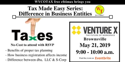 Tax Made Easy: Difference in Business Entities