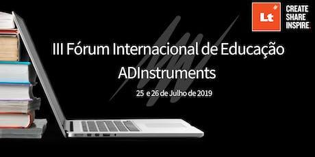 III Fórum Internacional de Educação ingressos