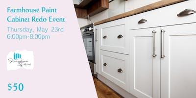 Farmhouse Paint Cabinet Redo