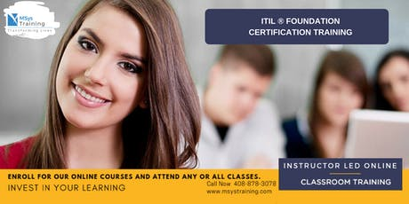 ITIL Foundation Certification Training In Shiawassee, MI tickets