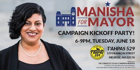 Manisha for Mayor Campaign Kickoff Party! tickets