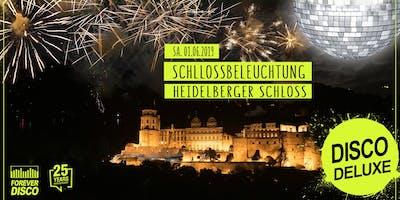 DISCO Deluxe meets Schlossbeleuchtung at Heidelberger Schloss