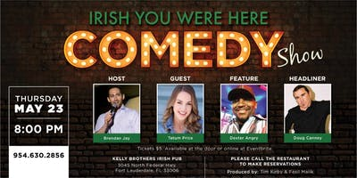 Stand Up Comedy Night at Kelly Brothers May 23rd!