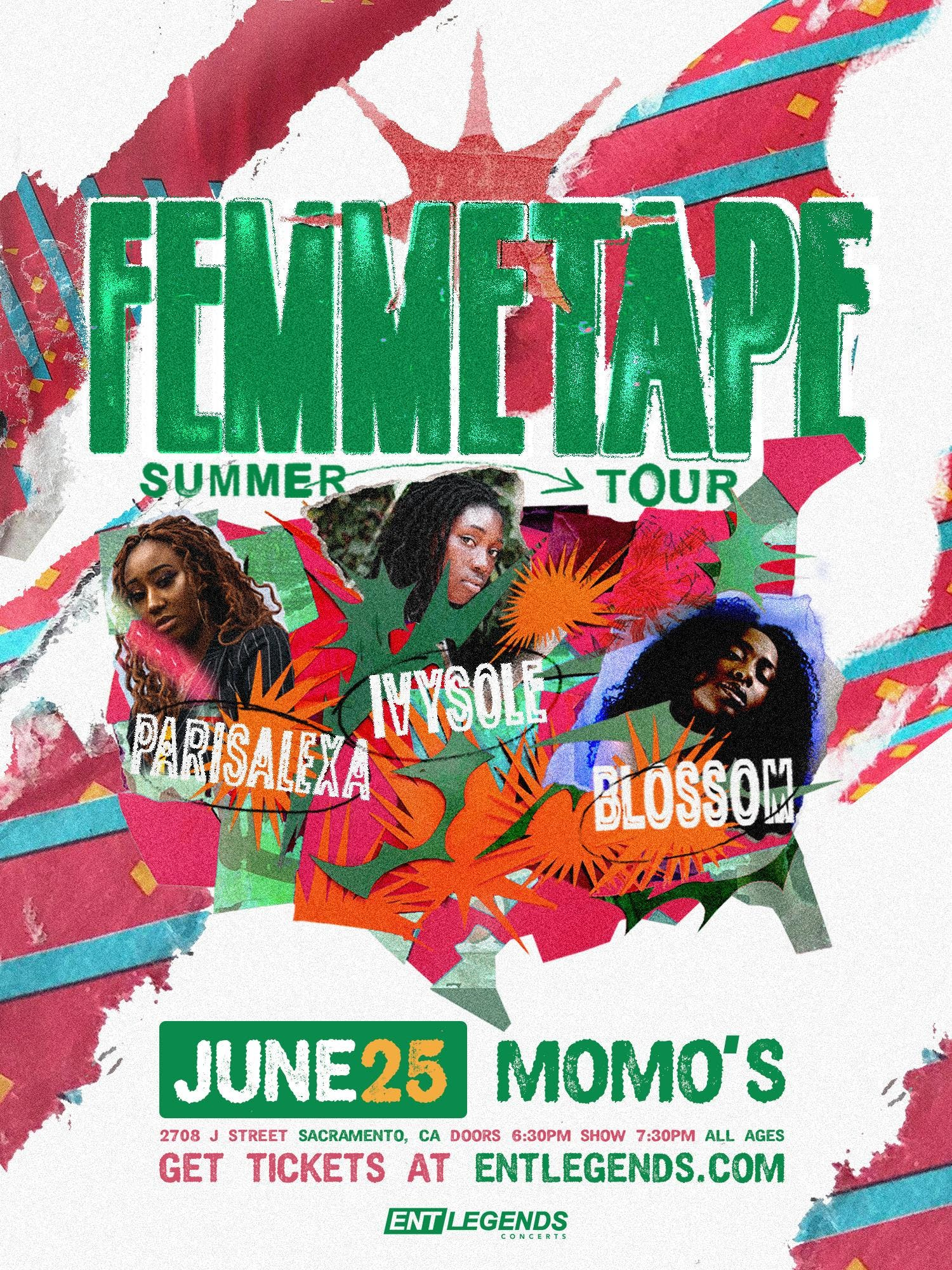 Ivy Sole, Blossom, & Parisalexa: The FEMMETAPE Tour