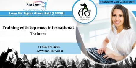 Lean Six Sigma Green Belt (LSSGB) Classroom Training In San Diego, CA tickets