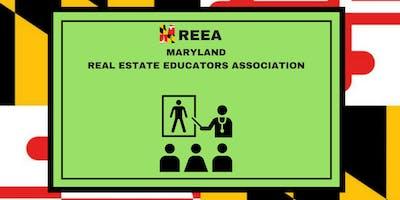 MREEA (Maryland Real Estate Educators Association) annual installment 2019