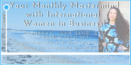 Monthly Mastermind - Financial Savvy with International Women in Business! tickets