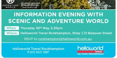 Scenic & Adventure World Information Night