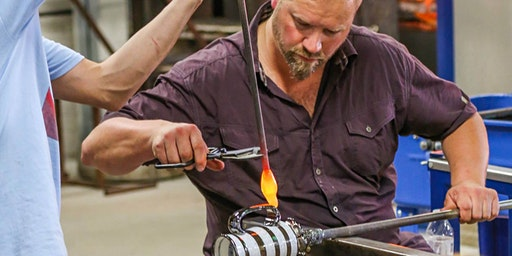 Glass blowing tour at the Glass Academy hot shop in Dearborn
