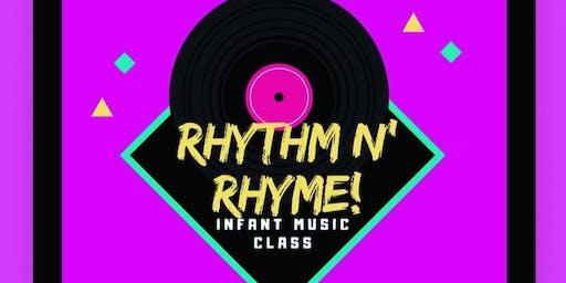 """""""RHYTHM N RHYME"""" Infant Music Class"""