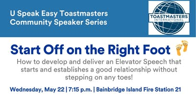 """Develop & Deliver an """"Elevator Speech"""" That Puts You on the Right Foot"""