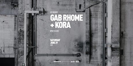 SET w/Gab Rhome (Anjunadeep/ADID) + Kora (Anjunadeep/SolSelectas) ALL NIGHT at Audio tickets