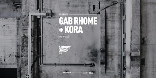 SET w/Gab Rhome (Anjunadeep/ADID) + Kora (Anjunadeep/SolSelectas) ALL NIGHT at Audio
