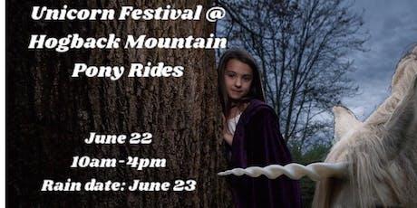 Unicorn Festival @ Hogback Mountain Pony Rides tickets