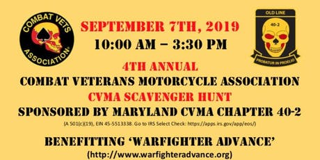 2019 MD CVMA Scavenger Hunt tickets