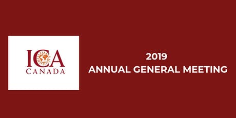 ICA Canada 2019 Annual General Meeting tickets