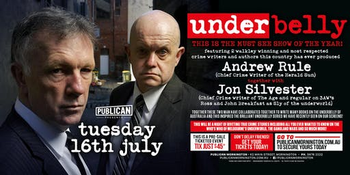 Underbelly feat Andrew Rule and Jon Silverster LIVE at Publican!