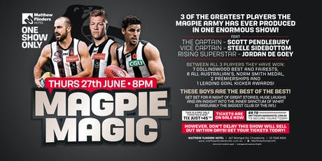 Magpie Magic feat Scott Pendlebury, Steele Sidebottom & Jordan De Goey! tickets