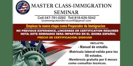 MASTER CLASS/SEMINAR USA IMMIGRATION entradas
