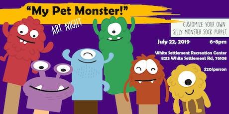 """""""My Pet Monster!"""" - Make your own Puppet - Art Class tickets"""