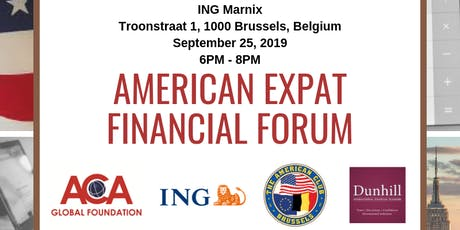 American Expat Financial Forum - American Club of Brussels tickets