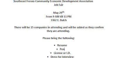 Southeast Fresno Community Economic Development Job Fair