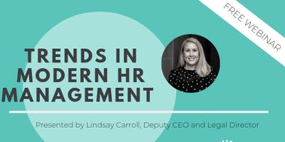 FREE WEBINAR: Trends in modern HR management