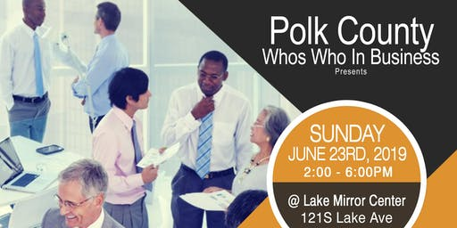 Polk County Who's Who In Business Minority Business Expo And Awards Gala
