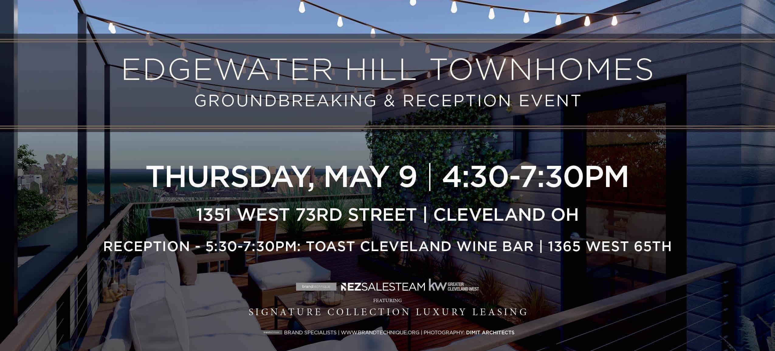 Edgewater Hill Luxury Townhomes - Groundbreaking & Reception