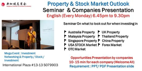 Property Outlook & Stock Market Outlook Seminar :  Investment Presentation by Companies tickets