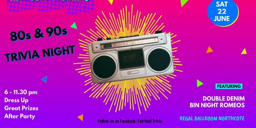 Fairfield PS: 80s & 90s Music Trivia Night