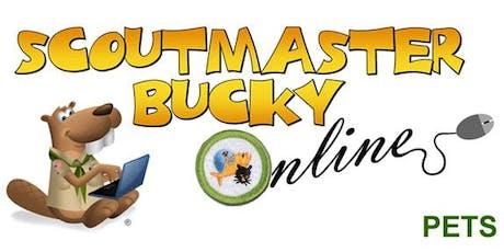 Scoutmaster Bucky Online - Pets Merit Badge -  Online Class 2019-09-04 - Scouts BSA tickets