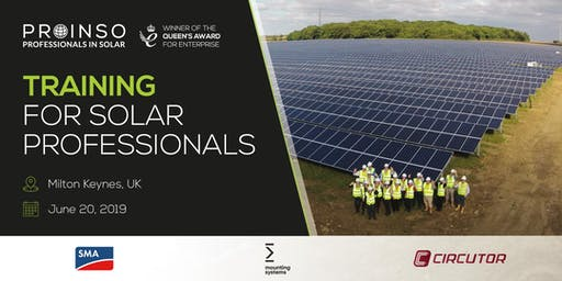 Training for Solar Professionals - SMA/Mounting Systems/Circutor/PROINSO