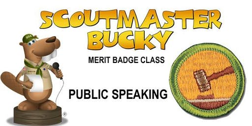 Public Speaking Merit Badge - Class 2019-08-21 - Wednesday AM - Scouts BSA