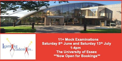DOUBLE BOOKING: 11+ Mock Examination, Essex. 11 Plus.  8th June & 13th July 2019