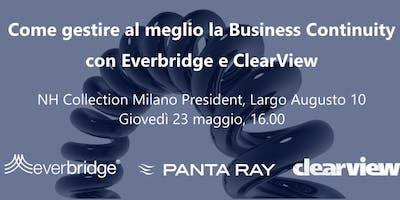 Gestire al meglio la Business Continuity con Everbridge e ClearView
