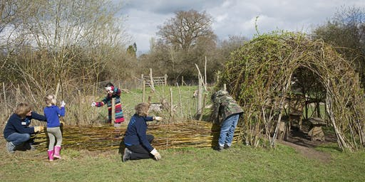 Willow weaving workshop at RSPB Fen Drayton Lakes
