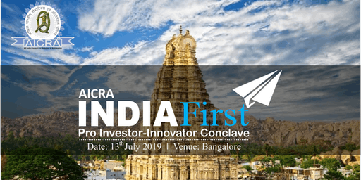 AICRA India First Investor-Innovator Conclave'19