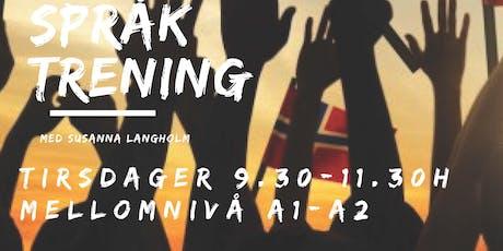 Norsk Språktrening om jobb i Norge tickets