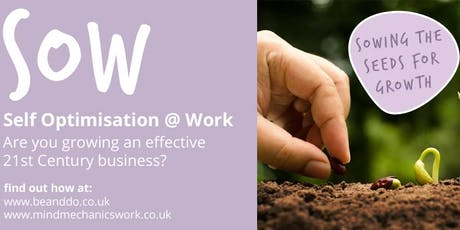 Self-Optimisation @ Work (SOW) - A special workplace training programme launch. tickets